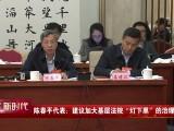 """建言新时代   陈春平代表:建议加大基层法院""""灯下黑""""的治理力度"""
