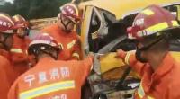 突降暴雨!两车相撞一男子被困 银川消防火速救援
