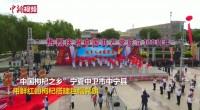 """""""中国枸杞之乡""""用枸杞搭建巨幅党旗"""