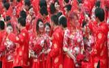 济南举办百对新人集体婚礼