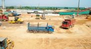 银川国际航空港综合交通枢纽工程建设正酣