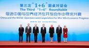 """李克强同主要国际经济金融机构负责人举行第三次""""1+6""""圆桌对话会"""