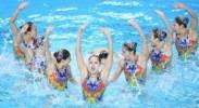 全国花样游泳冠军赛:集体自由自选赛况