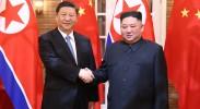 习近平同朝鲜劳动党委员长 国务委员会委员长金正恩举行会谈