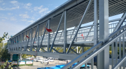 上海路与进宁街交叉路口人行过街天桥预计本月底正式通行