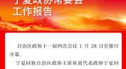 一图速览| 宁夏政协常委会工作报告