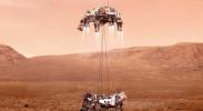"""美国""""毅力""""号火星车成功着陆 将探索火星生命迹象"""
