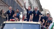 意大利队凯旋 与球迷共庆欧锦赛夺冠