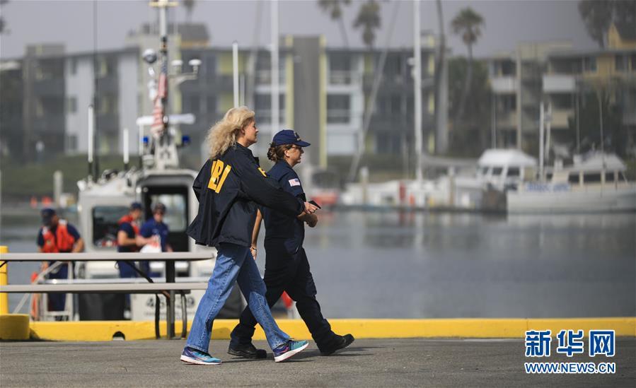 (国际)(5)美国加州南部游船失火 34人失踪