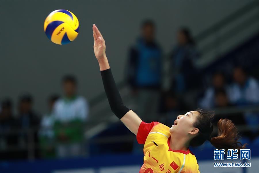 (军运会)(4)排球——女排小组赛:中国队胜美国队