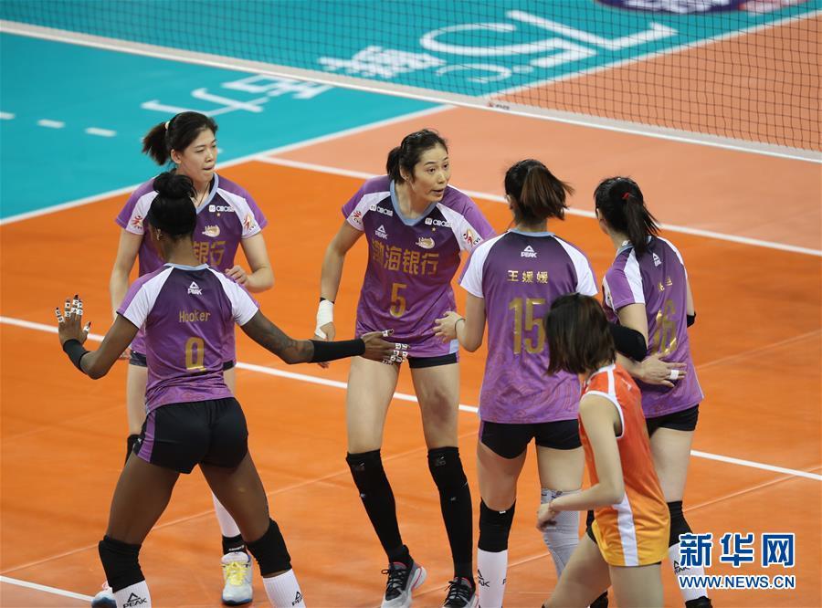 (体育)(4)排球——女排超级联赛:天津渤海队夺冠