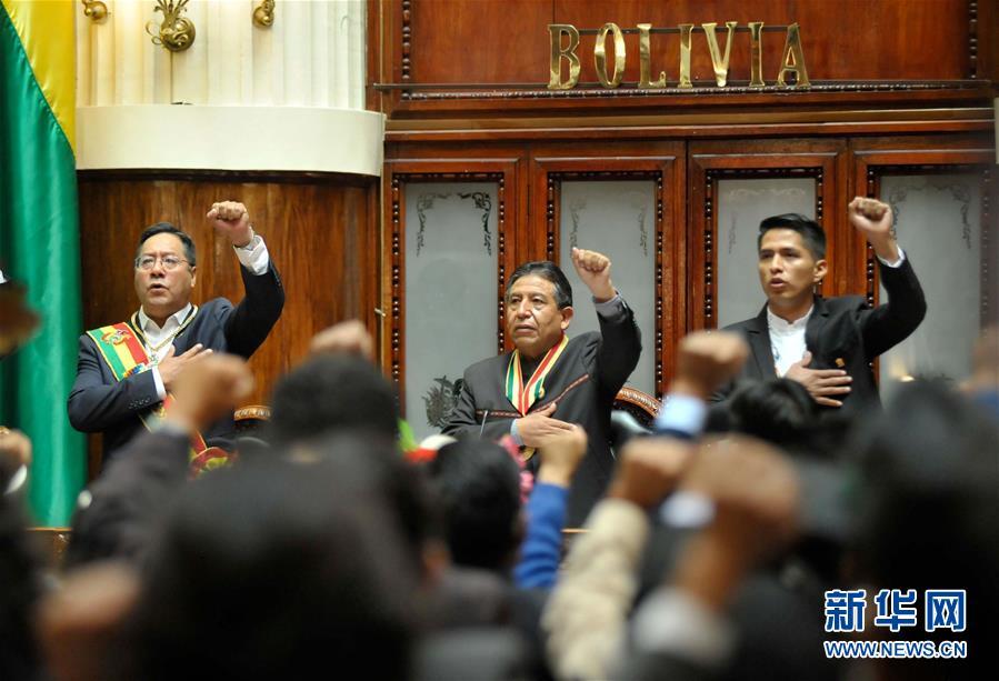 (国际)(6)阿尔塞宣誓就任玻利维亚总统