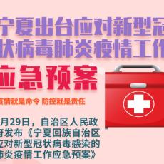 一张长图看懂《宁夏回族自治区应对新型冠状病毒感染的肺炎疫情工作应急预案》