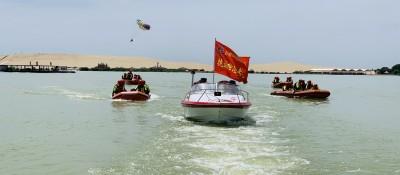 石嘴山消防开展抗洪抢险水域救援技术培训