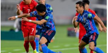 12强赛第二轮中国男足0:1不敌日本队