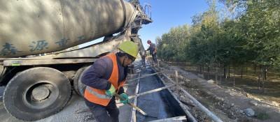 国道109线惠农至黄渠桥段改扩建工程加紧建设中