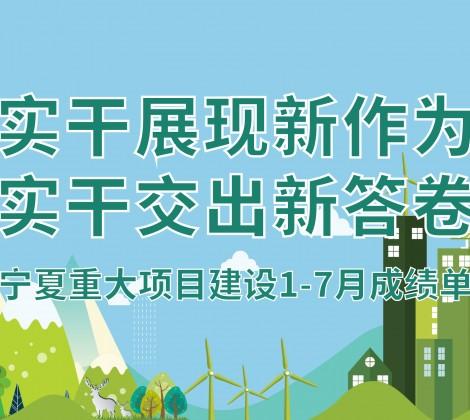 一图看懂 | 宁夏重大项目建设1-7月成绩单