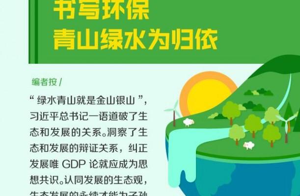 【理上网来·喜迎十九大】书写环保,青山绿水为归依
