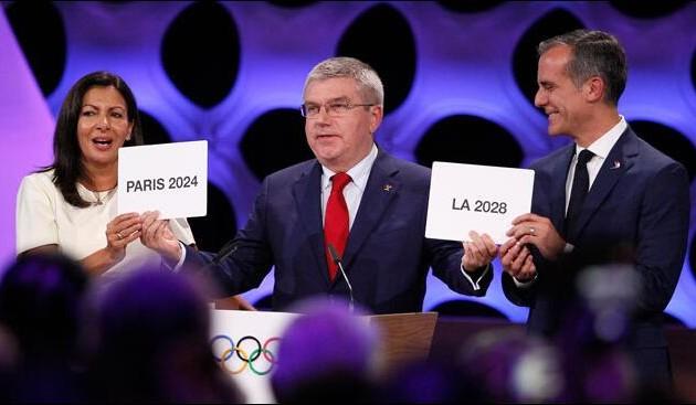 国际奥委会确认巴黎和洛杉矶分别为2024和2028年奥运会举办城市