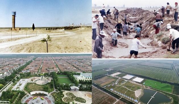 【宁夏60年】荒滩戈壁上构筑移民生态绿色新家园