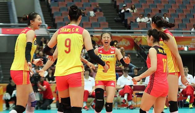 女排世锦赛:势如破竹!中国队3:0完胜美国锁定六强赛门票