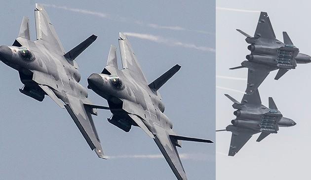 歼-20战机进行展示 震撼献礼空军成立纪念日