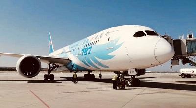 银川机场首次使用波音B787梦想客机执飞国内航线