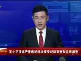 王小平涉嫌严重违纪违法接受纪律审查和监察调查-190615