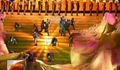 (热烈庆祝宁夏回族自治区成立60周年)汪洋观看庆祝宁夏回族自治区成立60周年文艺晚会《绽放新时代》 中央代表团副团长孙春兰尤权曹建明巴特尔苗华和代表团全体成员观看 石泰峰 咸辉 崔波等一同观看-180920