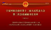 宁夏回族自治区第十二届人民代表大会第二次会议副秘书长名单-190126