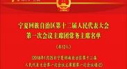 宁夏回族自治区第十二届人民代表大会第一次会议主席团常务主席名单-2018年1月25日