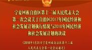 宁夏回族自治区第十二届人民代表大会第一次会议关于自治区2017年国民经济和社会发展计划执行情况与2018年国民经济和社会发展计划的决议-2018年1月31日