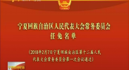宁夏回族自治区人民代表大会常务委员会任免名单-2018年2月7日
