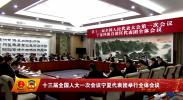 十三届全国人大一次会议宁夏代表团举行全体会议-2018年3月11日