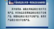 曝光台:宁夏食药监局公布第一季度食品安全抽检情况-2018年4月20日