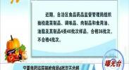 曝光台:宁夏食药监局抽检食品4批次不合格-180827