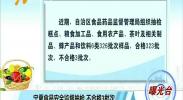 曝光台:宁夏食品安全监督抽检 不合格3批次-180926