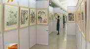 银川河东国际机场举办艺渡塞上书画展-180928