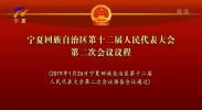 宁夏回族自治区第十二届人民代表大会第二次会议议程-190126