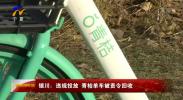 银川:违规投放 青桔单车被责令回收-190106