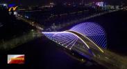 """银川夜色新景观 凤凰街跨典农河大桥""""亮了""""-190107"""