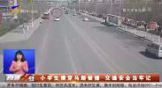 小学生横穿马路被撞 交通安全当牢记-190324