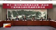 十三届全国人大二次会议宁夏代表团举行全体会议-190303