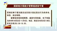 国家统计局统计督察组进驻宁夏-191023