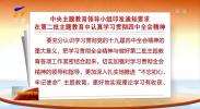 中央主题教育领导小组印发通知要求在第二批主题教育中认真学习贯彻四中全会精神-191113