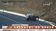 """四辆车高速公路上""""组团""""违停被处罚-200416"""