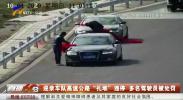 """迎亲车队高速公路""""扎堆""""违停 多名驾驶员被处罚-20201010"""