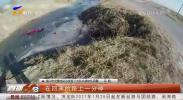 河边散心 男子不小心将车开进水渠