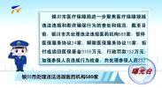 曝光台:银川市处理违法违规医药机构589家-20210112