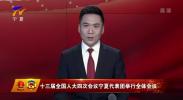 十三届全国人大四次会议宁夏代表团举行全体会议-20210304